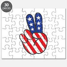 Peace USA Flag VINTAG Puzzle