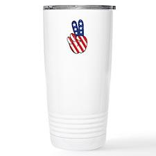 Peace USA Flag VINTAG Travel Mug
