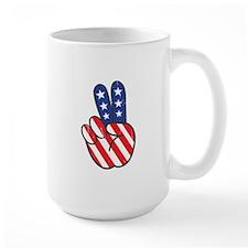 Peace USA Flag VINTAG Mugs