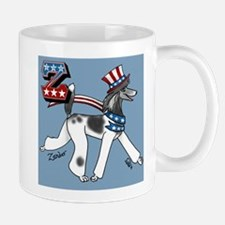 Patriotic Poodle Z Mug Mugs