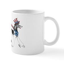 Patriotic Poodle Mug Mugs