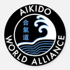 AWA logo Round Car Magnet
