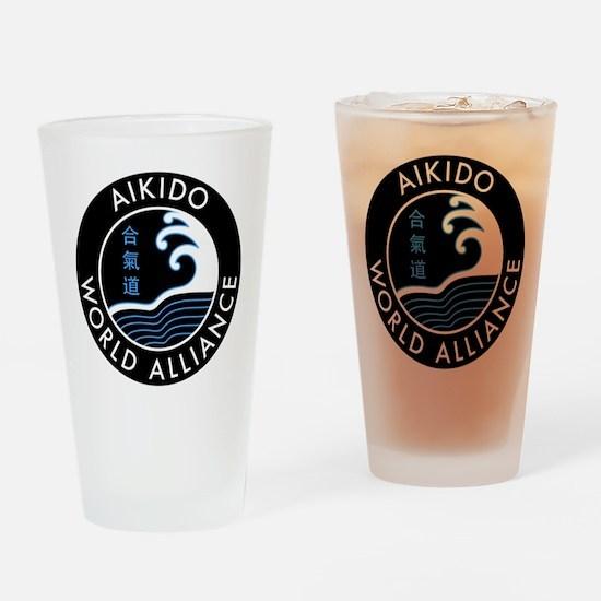 AWA logo Drinking Glass