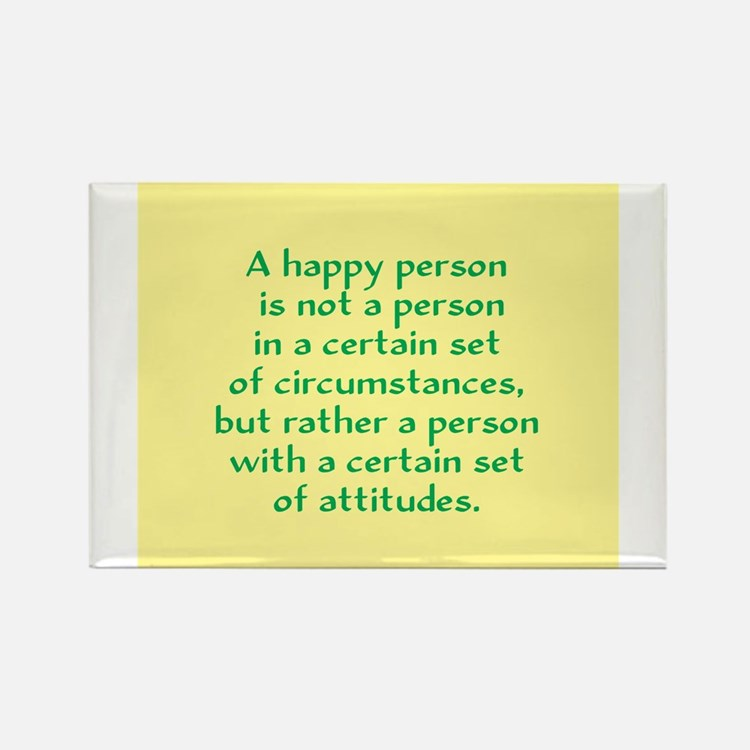 Cute A happy person is not a person in a certain set o Rectangle Magnet