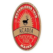 Acadia National Park Oval Decal