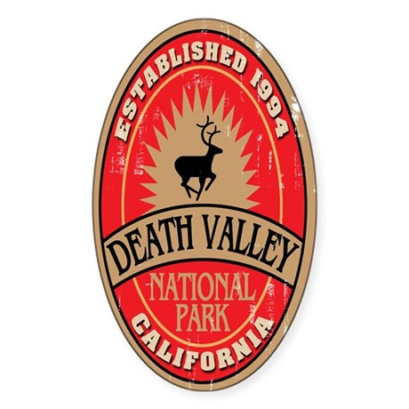 Death Valley National Park Oval Sticker