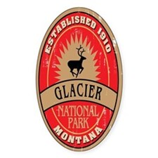 Glacier National Park Oval Decal
