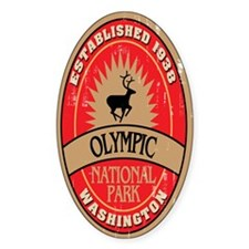 Olympic National Park Oval Decal