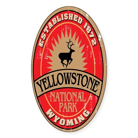 Yellowstone National Park Oval Sticker