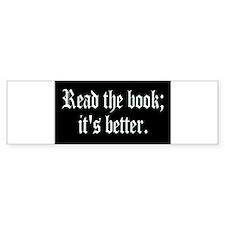 Read_book5x3 Bumper Bumper Sticker