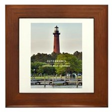 Currituck Beach Lighthouse Framed Tile