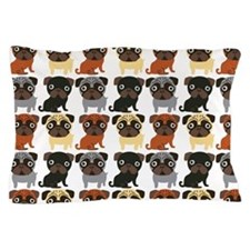 Just Pugs! Pillow Case