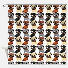 Just Pugs! Shower Curtain