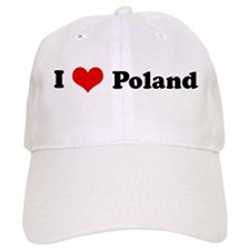 I Love Poland Baseball Cap