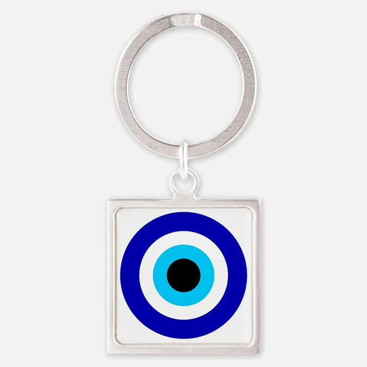 Evil Eye Square Keychain