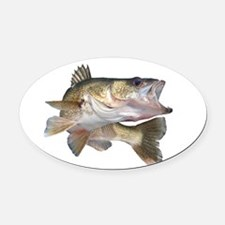 walleye Oval Car Magnet