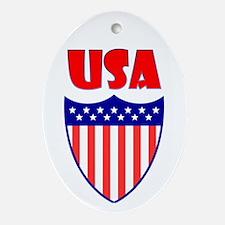 USA Crest Ornament (Oval)