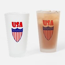 USA Crest Drinking Glass