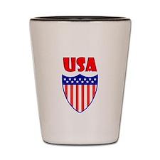 USA Crest Shot Glass