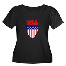 USA Crest Plus Size T-Shirt
