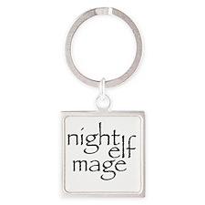 Cute Night elf Square Keychain