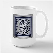 Romanesque Monogram E Mugs