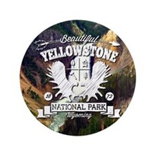"Yellowstone Camper 3.5"" Button"