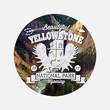 "Yellowstone Camper 3.5"" Button"