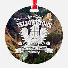 Yellowstone Camper Round Ornament
