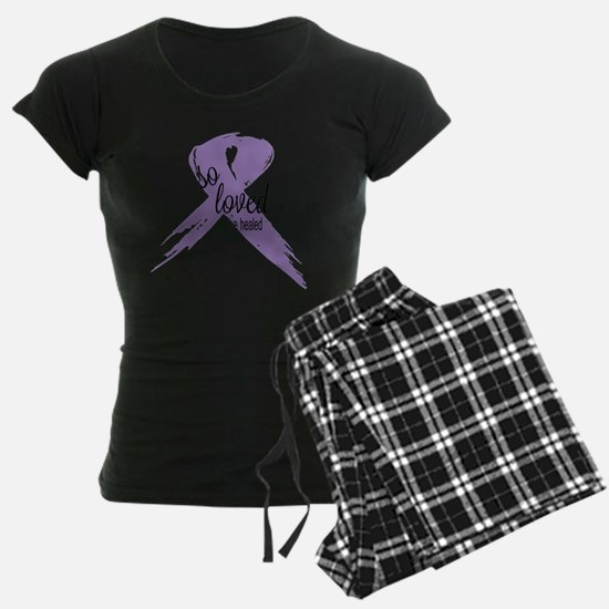 So Loved Lavender Cancer Rib Pajamas