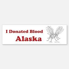 I Donated Blood Alaska Bumper Bumper Bumper Sticker