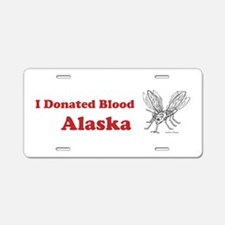 I Donated Blood Alaska Aluminum License Plate