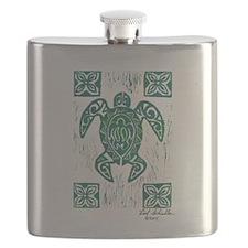 Honu Print Flask