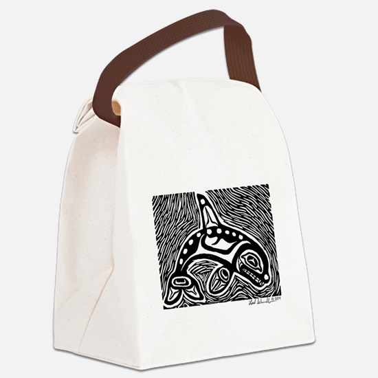 Orca Print Canvas Lunch Bag