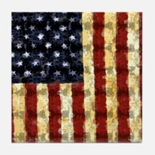 Patriotic Old Glory: Tile Coaster