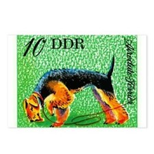 1976 Germany Airedale Terrier Postage Stamp Postca
