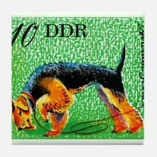 1976 Germany Airedale Terrier Postage Stamp Tile C