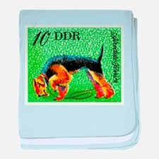 1976 Germany Airedale Terrier Postage Stamp baby b
