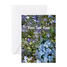 Blue Flowers Collage Customizable Greeting Card