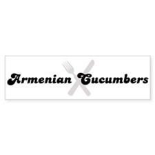 Armenian Cucumbers (fork and Bumper Bumper Bumper Sticker