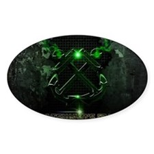 Crossed Anchors Glowing Green Decal