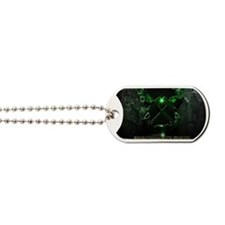 Crossed Anchors Glowing Green Dog Tags