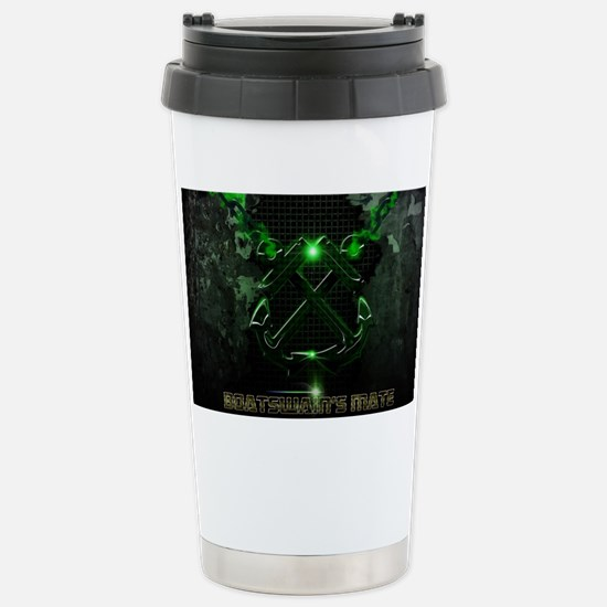 Crossed Anchors Glowing Stainless Steel Travel Mug
