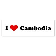 I Love Cambodia Bumper Bumper Sticker