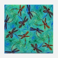 Dragonfly Dance Tile Coaster