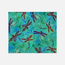 Dragonfly Dance Throw Blanket