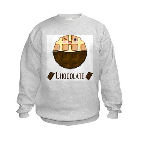 Chocolate Waffle Kids Sweatshirt