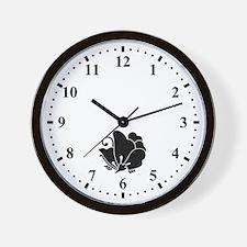 Butterfly-shaped wood sorrel Wall Clock