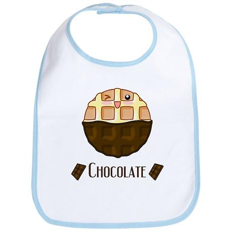 Chocolate Waffle Bib