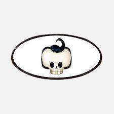 Rockabilly Rebel Skull Patches